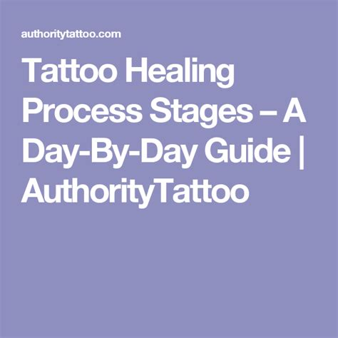 tattoo healing process stages  day  day guide
