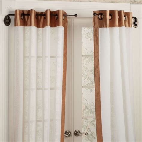 Target Grommet Curtain Rods by Various Concept Design Of Half Curtain Rods Homesfeed