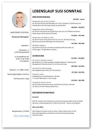 Muster Lebenslauf Kostenlos Word by Lebenslauf Vorlage Word Design
