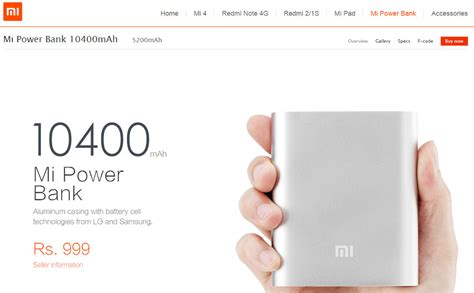 Xiaomi Now Selling Accessories Including Power Banks