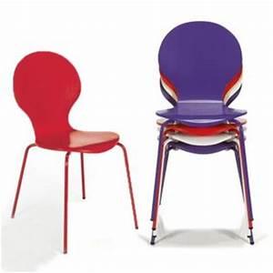 Chaise de cuisine rouge pas cher for Deco cuisine avec chaise en bois pas cher