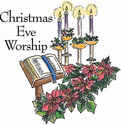 Eve Christmas Clipart Religious Service Mass Candlelight
