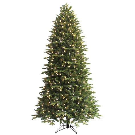 ge 7 5 ft pre lit led indoor just cut deluxe aspen fir