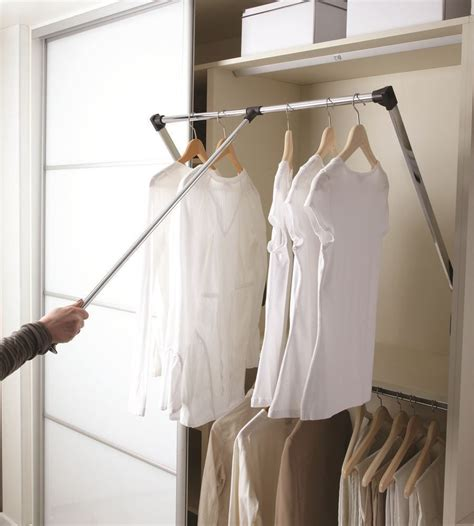 pull  wardrobe hanging rail   extendable sizes ecf