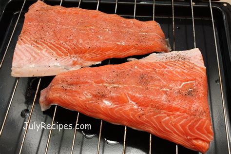 cooking salmon in oven simple oven cooked salmon filet recipe july recipes