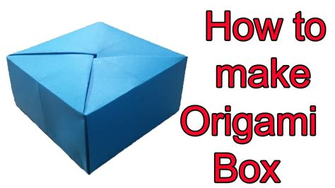 easy box origami tutorial origami handmade