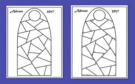 advent calendar templates praying  color