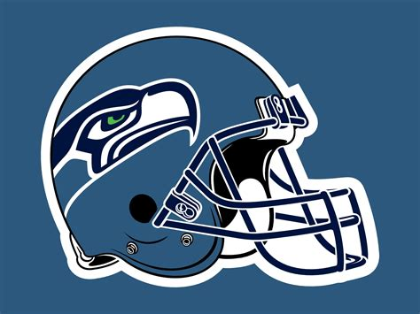 sea hawks iogo  helment drawing   clip