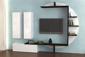 Meuble Tv Effet Beton : ensemble meuble tv blanc laqu et effet b ton cir design bari mobilier et luminaires ~ Teatrodelosmanantiales.com Idées de Décoration