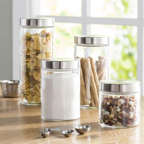 clear glass canisters for kitchen wayfair basics wayfair basics 4 top