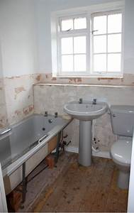 remove old bathroom suite and fit new bathroom suite With fitting a new bathroom suite