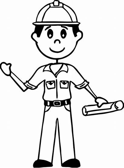 Stick Coloring Pages Stickman Drawing Figure Working