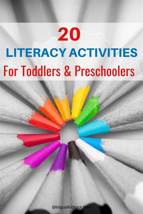 literacy activities  preschoolers kindergarten kids