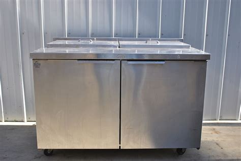 refrigerated countertop prep unit randell 48 quot refrigerated prep table ebay