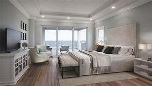 Oceanfront, Master, Bedroom, Rendering