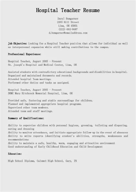 Child Resume Sle by Child Resume Sle 51 Images Daycare Resume Sales