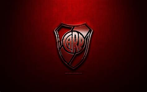 Download wallpapers River Plate FC, red metal background ...