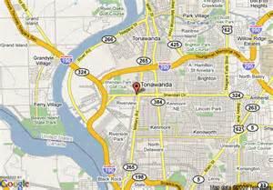 Map of Niagara Falls Buffalo NY Area
