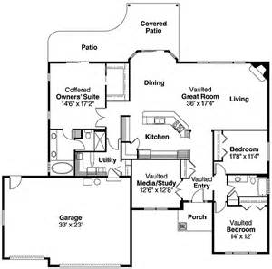 one level floor plans spacious single level home 72551da 1st floor master suite cad available craftsman den