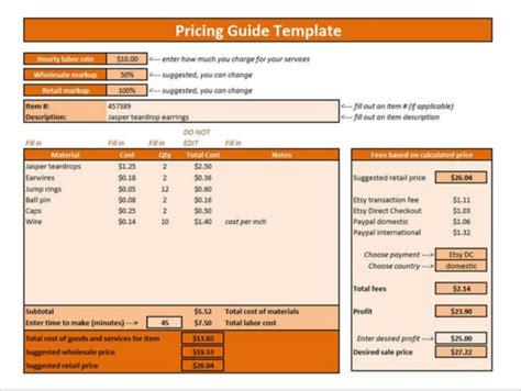 pricing template 25 price list templates doc pdf excel psd free premium templates