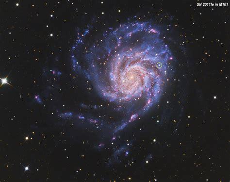 pinwheel galaxy  sn  hii regions
