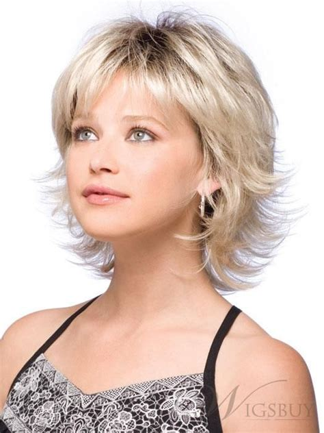 sweet shoulder length flip platinum lace front wig for a