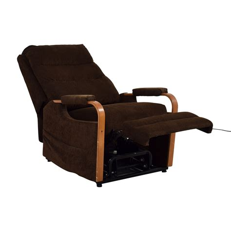 shop bobu0027s furniture brown remote recliner