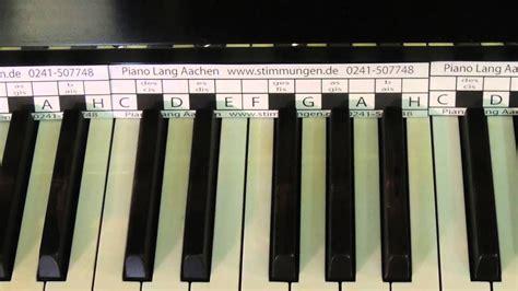Klaviatur (pianotastatur) mit den deutschen und amerikanischen notennamen und die frequenzen von tasteninstrumenten. Das Klavier - Tastenschablone gratis zum download - YouTube