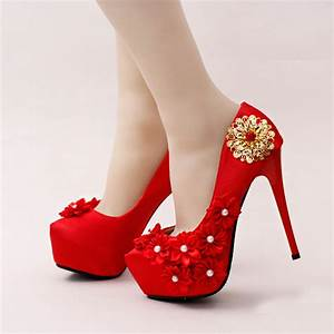 comfortable satin wedding shoes stilettos bridal dress With red dress shoes for wedding