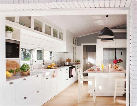 de cocinas blancas decoracion modelos modernas pequenas