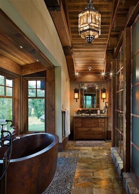 heartwarming rustic bathroom designs perfect   winter