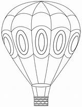 Coloring Balloon Air Pages sketch template