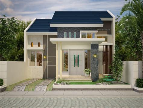 denah rumah minimalis type  lebar  meter jasa desain