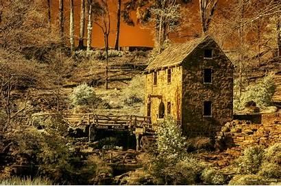 Mill Arkansas Gone Wind Building Left Rock
