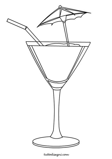 Bicchieri Da Colorare by Da Colorare Tuttodisegni