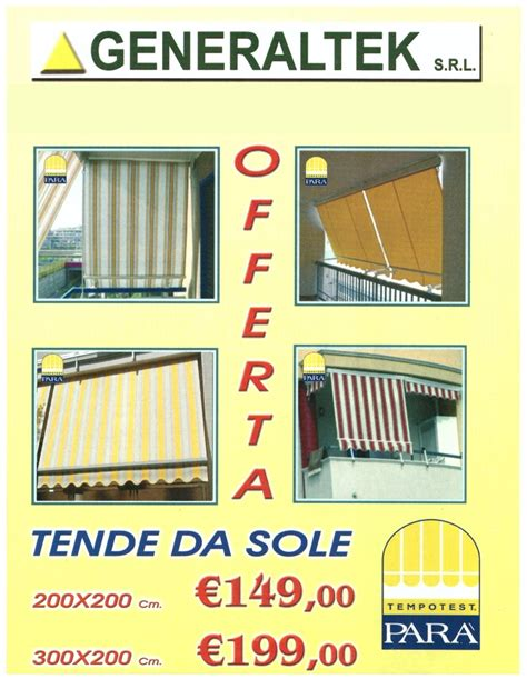 offerte tende da ceggio offerte generaltek