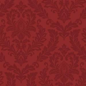 York Wallcoverings Red Damask Wallpaper