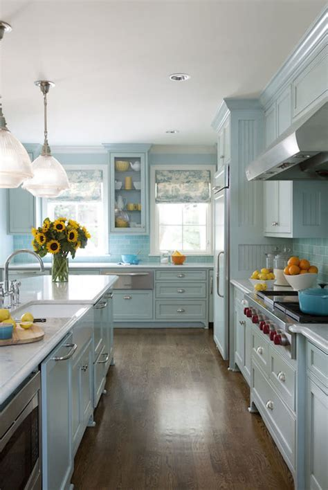 Blue Kitchens   Cottage   kitchen   Sherwin Williams
