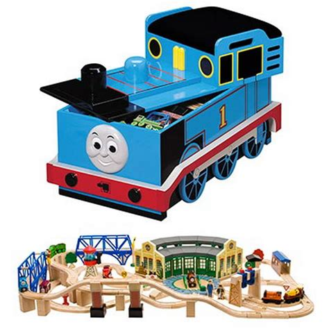 new thomas friends wooden deluxe toy train set tidmouth
