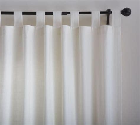 Textured Cotton Tab Top Drape   Pottery Barn
