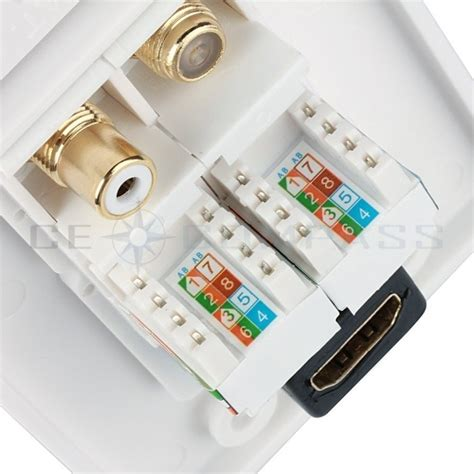 Rca Wall Plate Rj45 Connector Wiring Diagram by Hdmi Ethernet Rj45 Rca Coaxial Wall Plate Socket