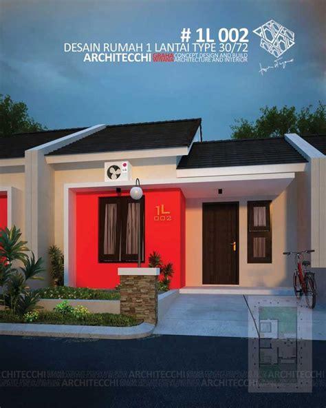 desain rumah minimalis  lantai type  lebar  meter