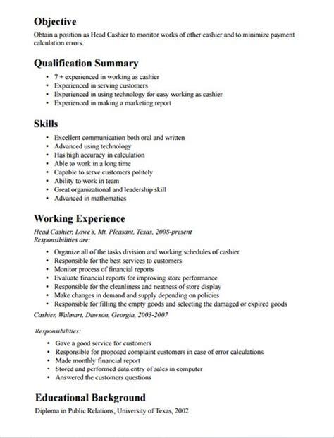 28 cashier description for resume cashier resume