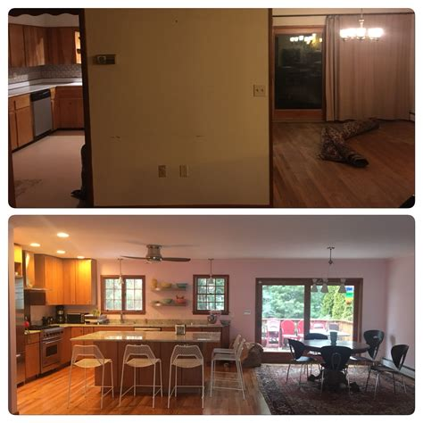 photos of small kitchen makeovers before and after split level kitchen remodel with 7427