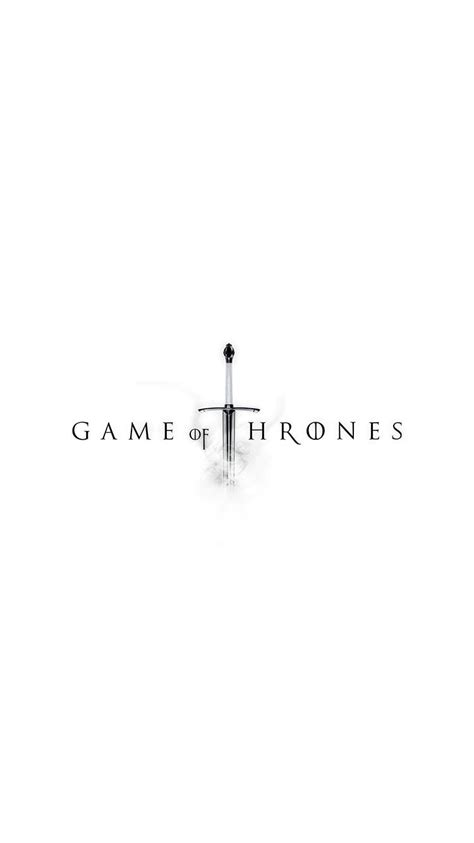 game  thrones light sword logo iphone  wallpaper hd