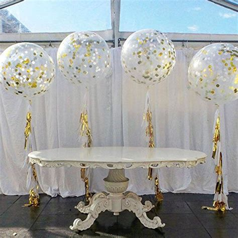 inches transparent bubble balloons  golden paper