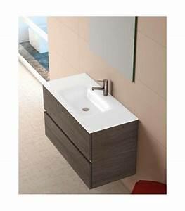 meuble suspendu salle de bain ikaro 100 coycama pour With meuble salle bain suspendu