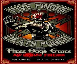 Five Finger Death Punch Hertz Arena