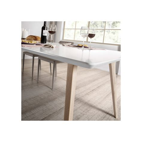 canapé design 2 places table design scandinave extensible bois laqué blanc joshua