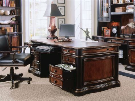 leather office desk hooker furniture home office preston